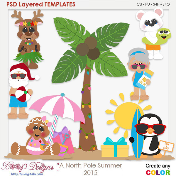 A North Pole Summer Layered Element Templates