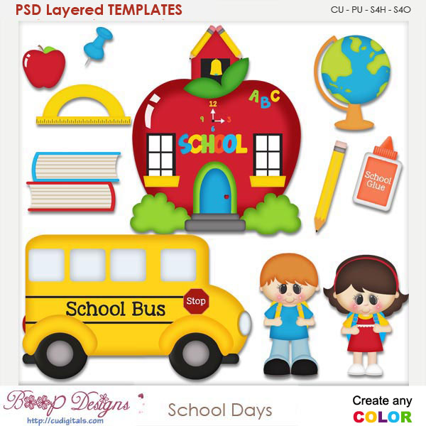 School Days Element Templates