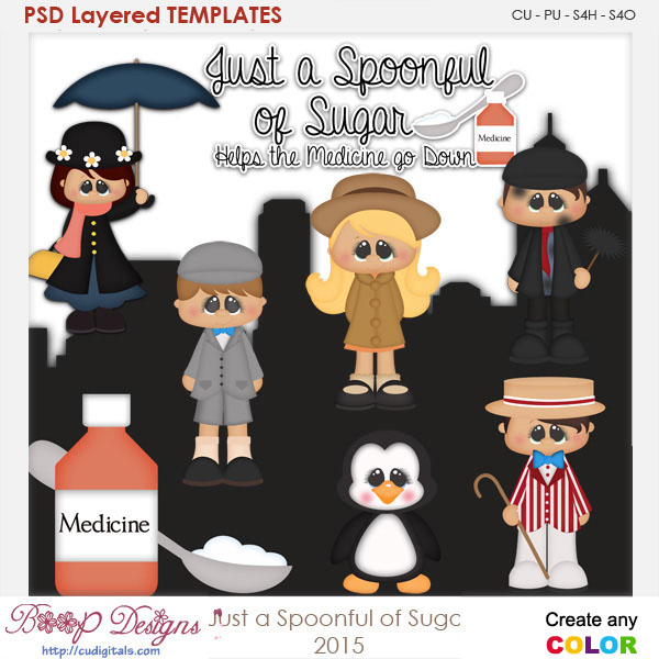 Spoonful of Sugar Medicine Layered Element Templates