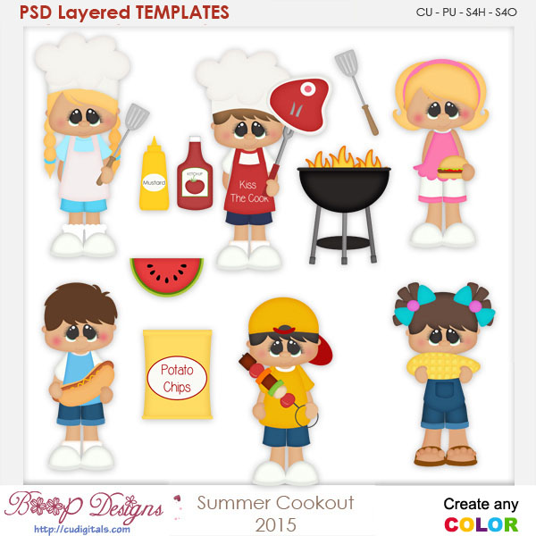 Summer Cookout Layered Element Templates