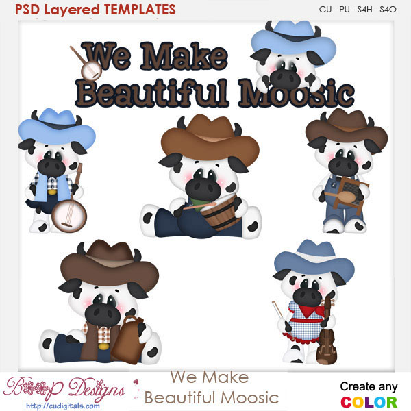 We Make Beautiful Moosic Layered Element Templates