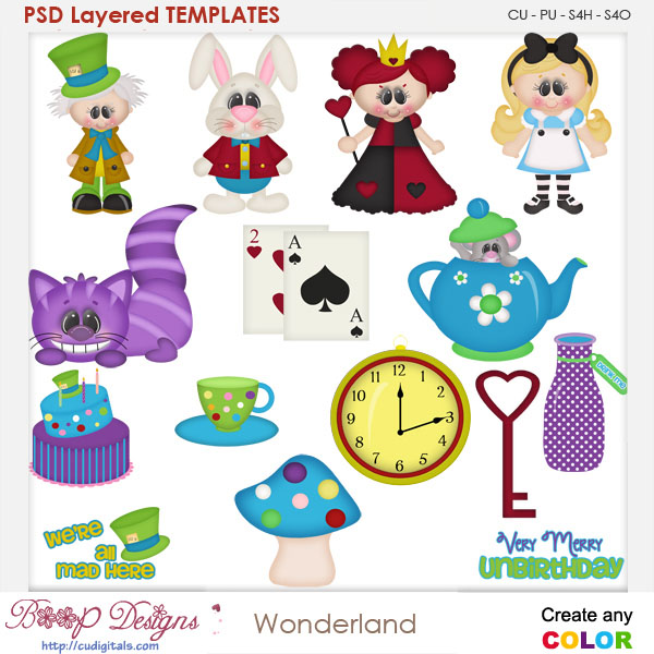 Mad Wonderland layered Element TEMPLATES