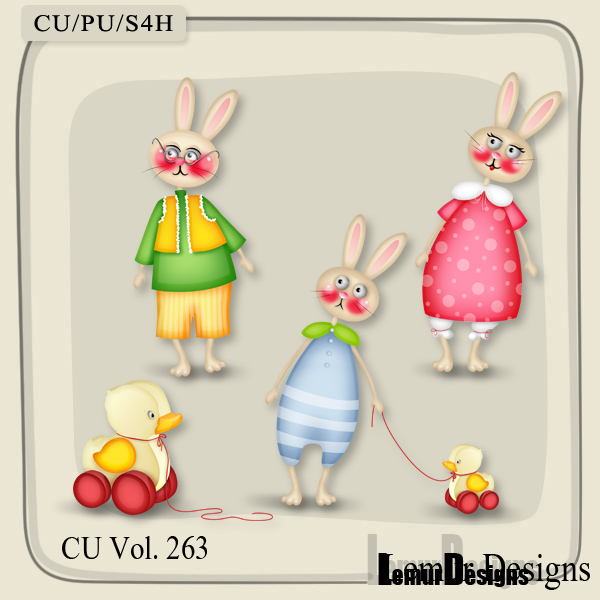 CU Vol 263 Animals Bunny Rabbits by Lemur Designs