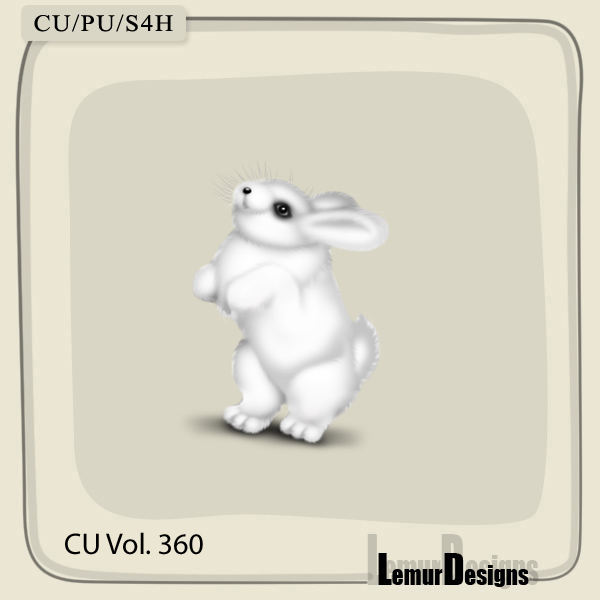 CU Vol 360 Rabbit Bunny by Lemur Designs