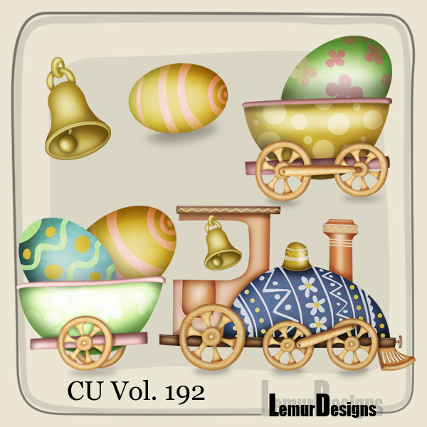 CU Vol 192 Easter Elements Pack 1 by Lemur Designs