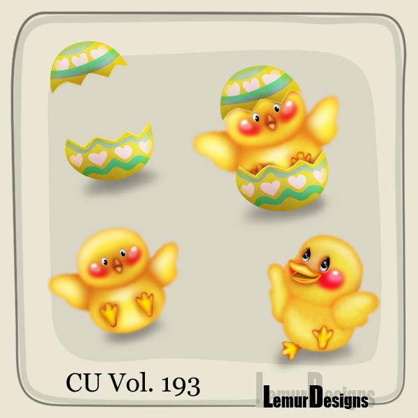 CU Vol 193 Easter Elements Pack 2 by Lemur Designs