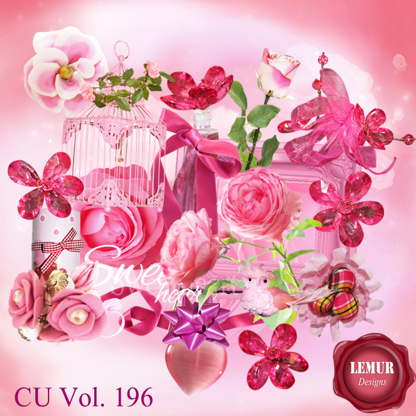CU Vol 196 Flowers Mix by Lemur Designs