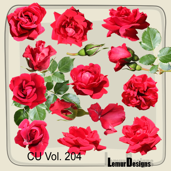 CU Vol 204 flowers rose by Lemur Designs