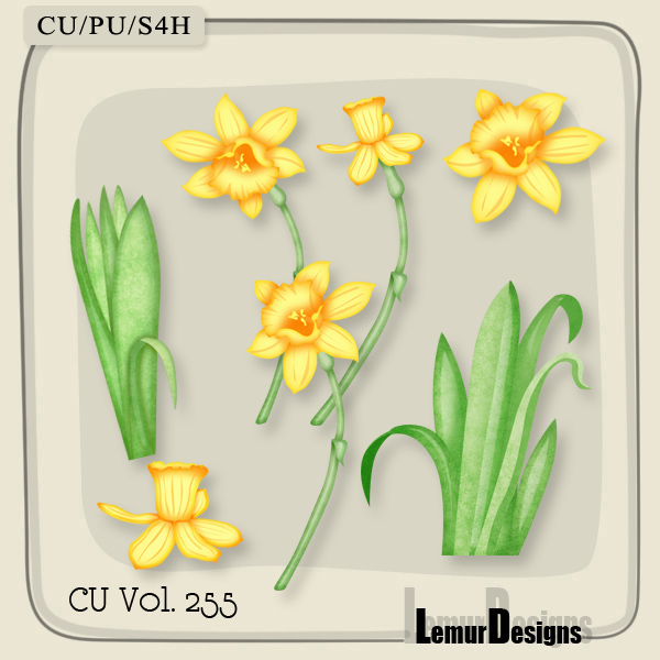 CU Vol 255 Flowers Pack 2 by Lemur Designs