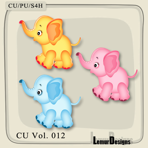 CU Vol 012 Elephants by Lemur Designs