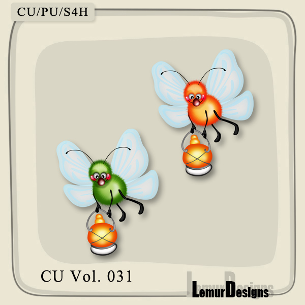CU Vol 031 Insects Pack 4 by Lemur Designs