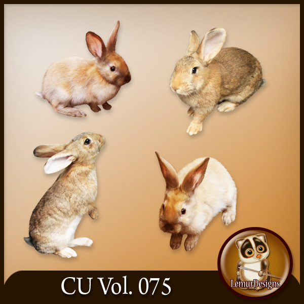 CU Vol 075 Easter Rabbit Bunny Animals by Lemur Designs