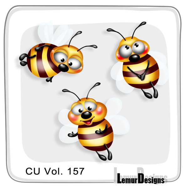 CU Vol 157 Bees Pack 2 by Lemur Designs