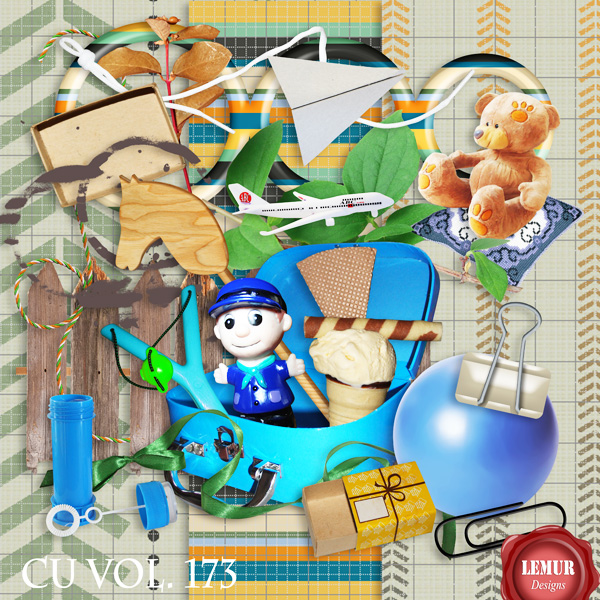 CU Vol 173 Boy Kids Stuff by Lemur Designs