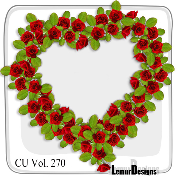 CU Vol 270 Heart Flowers Frames by Lemur Designs
