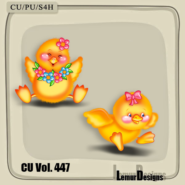 CU Vol 447 Easter Chicken by Lemur Designs