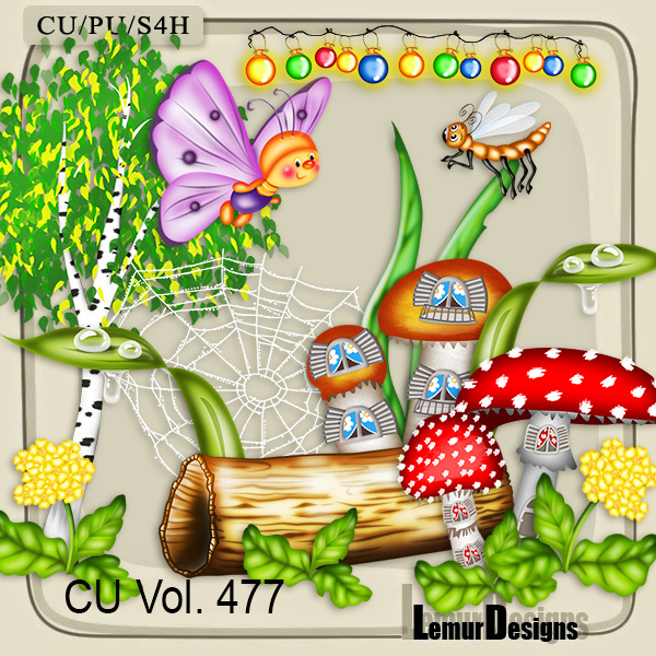 CU Vol 477 Summer Forest by Lemur Designs