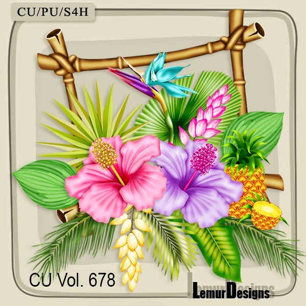 CU Vol 678 Tropical Flowers by Lemur Designs