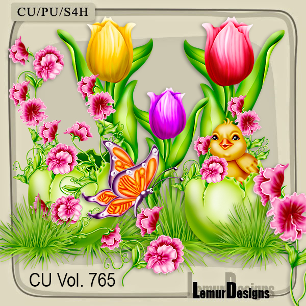 CU Vol 765 Flowers Easter by Lemur Designs