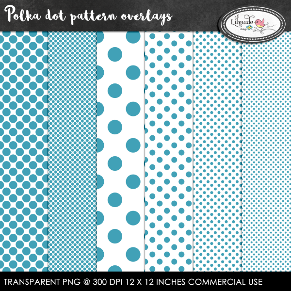 Polka dot pattern overlays Lilmade Designs