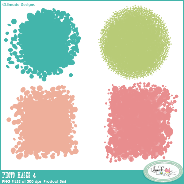 Photo Masks 4 clipping masks PNG templates Lilmade Designs
