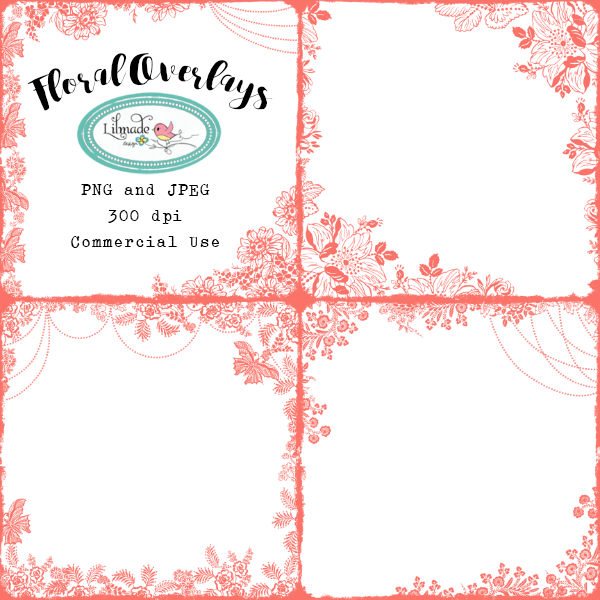 Floral overlays Lilmade Designs