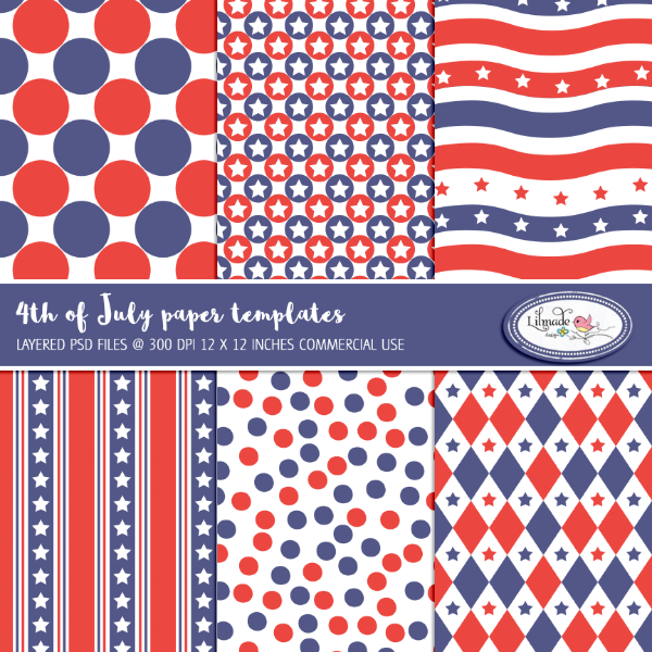4th of July Overlays by Lilmade