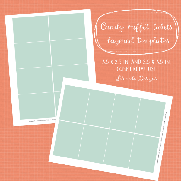 Pocket scrapbooking template, 3.5 x 2.5 inch journaling template
