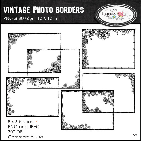 Vintage Photo Frames by Lilmade Designs