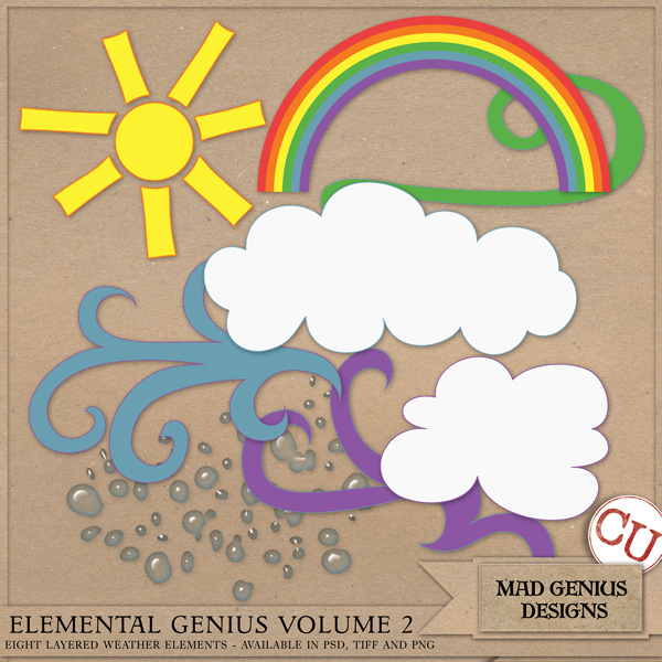 Elemental Genius Volume Two by Mad Genius Designs