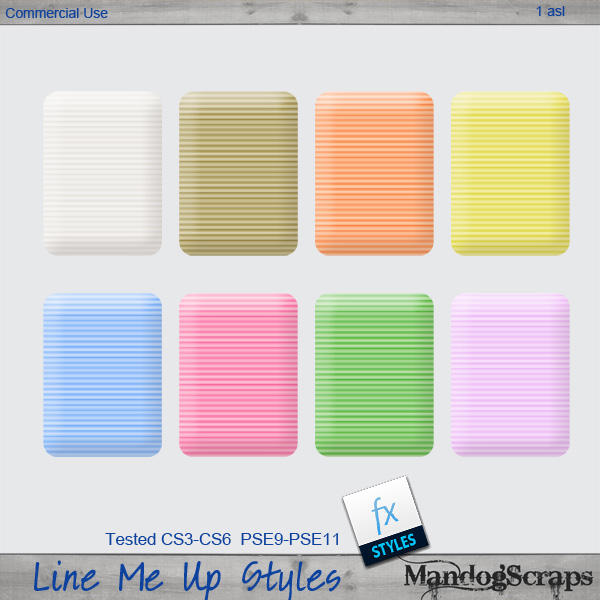 Line Me Up Styles by Mandog Scraps