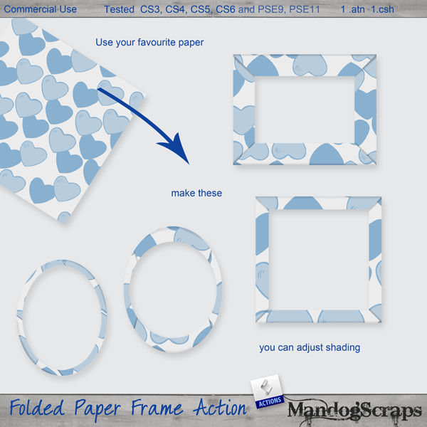 Folded Paper Frames Action by Mandog Scraps