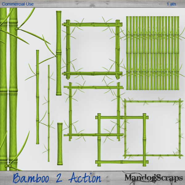 Bamboo 2 Action by Mandog Scraps