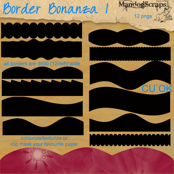 Border Bonanza 1 by Mandog Scraps