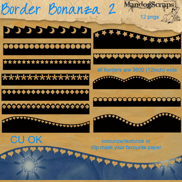 Border Bonanza 2 by Mandog Scraps
