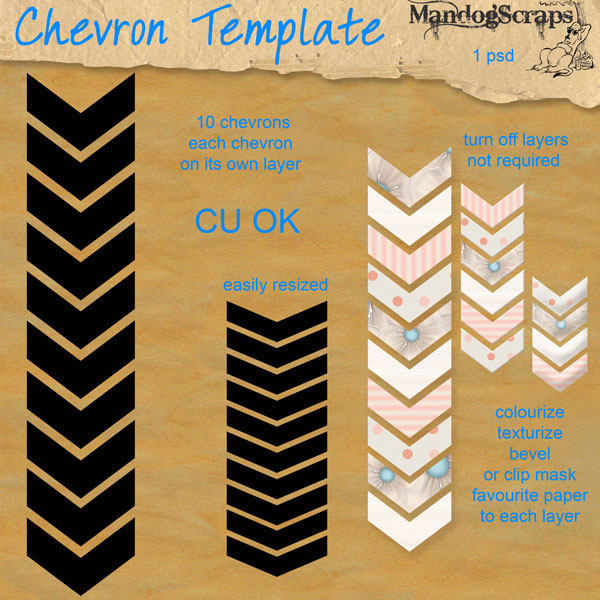 Chevron Template by Mandog Scraps