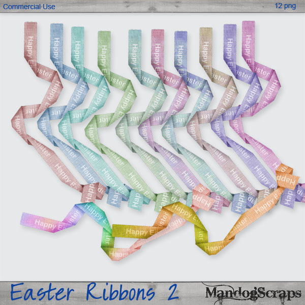Easter Ribbons 2 by Mandog Scraps