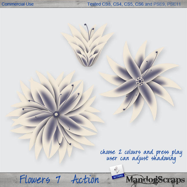 Flowers 7 Action by Mandog Scraps