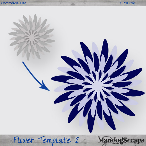 Flower Template 2 by Mandog Scraps