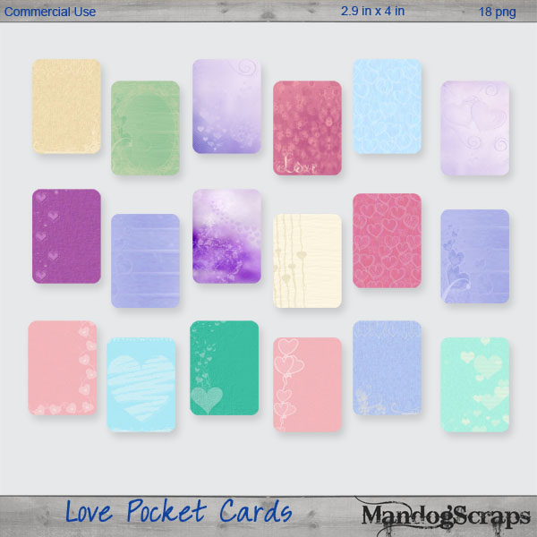 Love Pocket Cards by Mandog Scraps