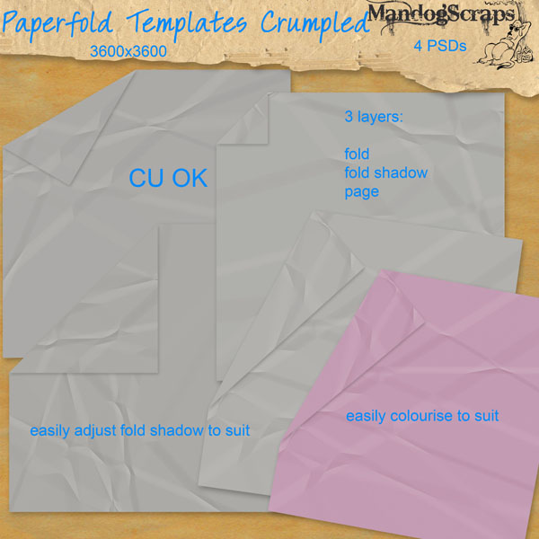 Paperfold Templates Crumpled by Mandog Scraps