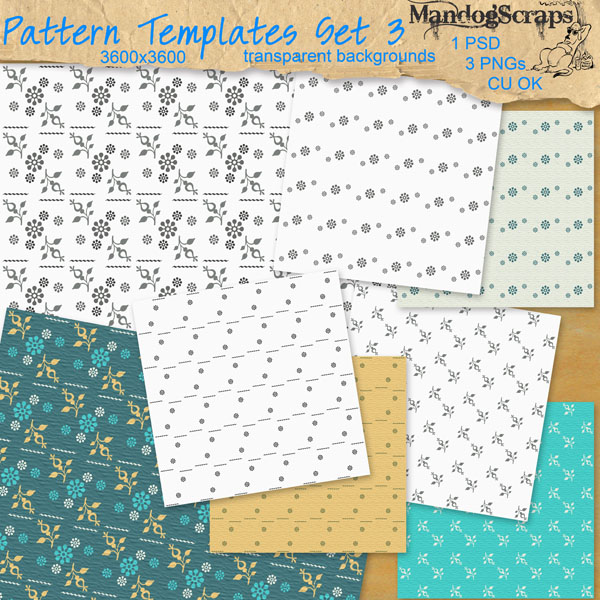 Pattern Templates Set3 by Mandog Scraps