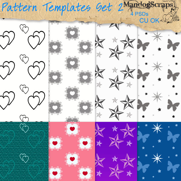 Pattern Templates Set2 by Mandog Scraps