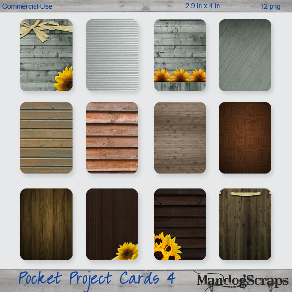 Pocket Project Cards 4 by Mandog Scraps