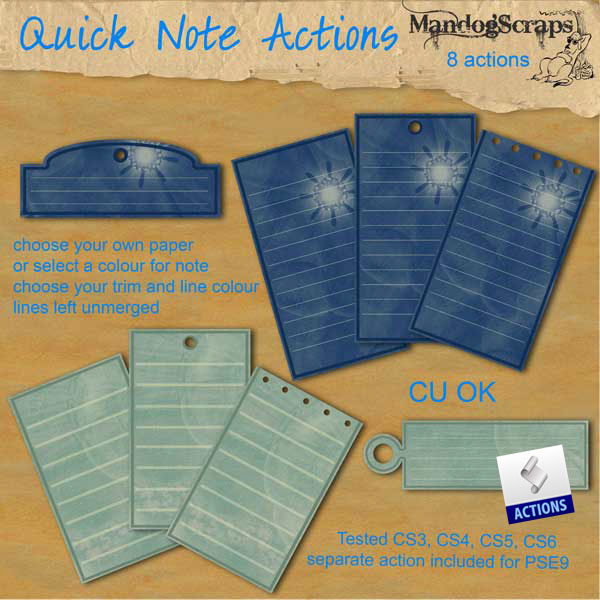 Quick Note Action by Mandog Scraps