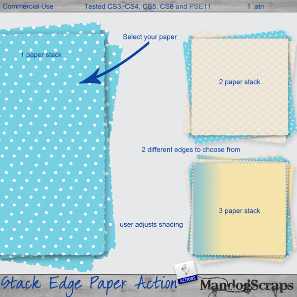 Stack Edge Paper Actions by Mandog Scraps