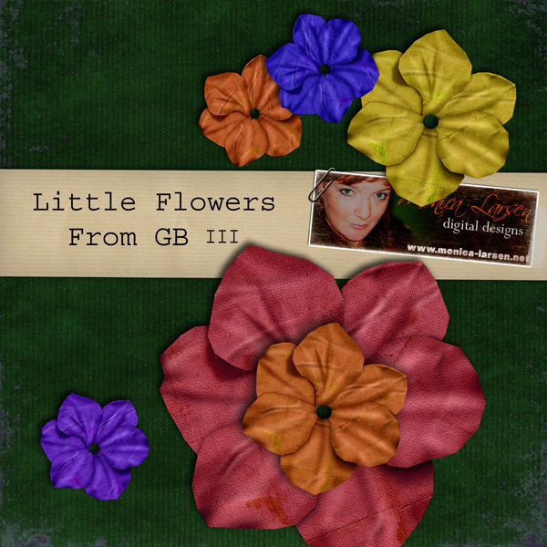 Little Flowers - action by Monica Larsen
