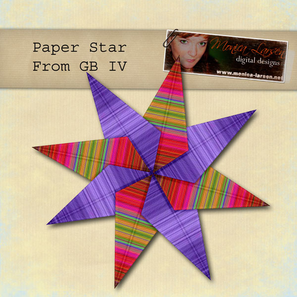 Paper Star - Action by Monica Larsen