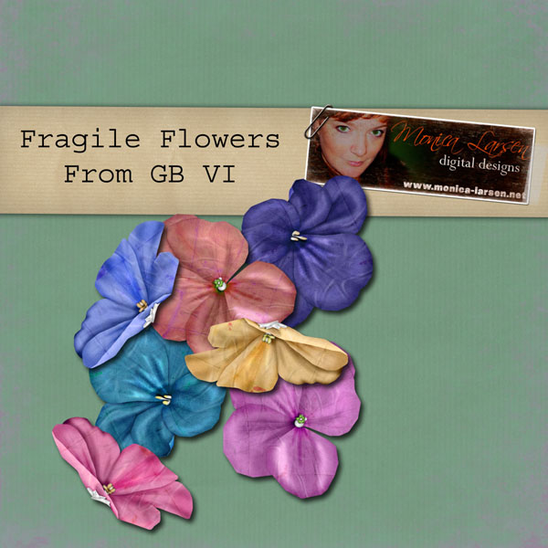 Fragile Flowers - action by Monica Larsen