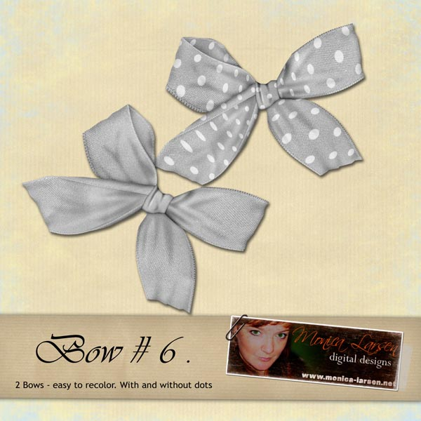 Bow 06 - PNG files by Monica Larsen